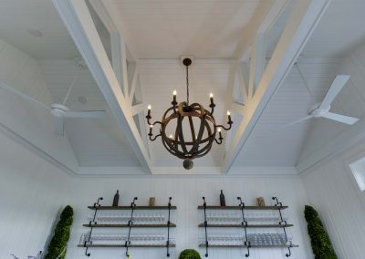 metal chandelier on white ceiling